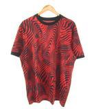アディダス adidas サッカーウェア TANGO CAGE ENG トレーニングジャージー Tシャツ 半袖 レッド L