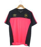 アンブロ UMBRO サッカープラクティスシャツ GACHI-TRプラクティスS/Sシャツ UBA7538 ピンク ネイビー O