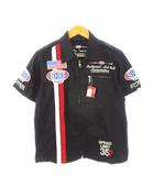 NHRA オフィシャル レーシング シャツ ジップアップ 刺繍 パッチ プリント 半袖 黒 ブラック M