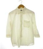 シュガーケーン SUGAR CANE ボタンダウン シャツ 七分袖 リネン混 白 ホワイト S 東洋エンタープライズ