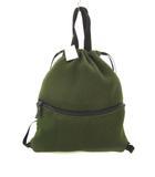 ジーユー GU ナップサック メッシュ 鞄 リュック 緑 オリーブ