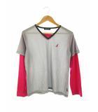 カンゴール KANGOL Tシャツ カットソー トップス 長袖 フェイクレイヤード ボーダー L