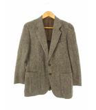 ハリスツイード Harris Tweed テーラードジャケット ツイード ウール 2ボタン ブラウン系 165
