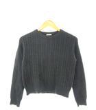 ジーユー GU ニット 長袖 セーター トップス ケーブル編み ダークグレー S