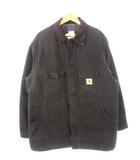 カーハート carhartt 80's 90's カバーオール ブランケットライナー ダックジャケット ワークジャケット USA製 黒 ブラック 50