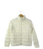 ユニクロ UNIQLO ジュニア ライトウォームパデットジャケット アウター 上着 子供服 ホワイト 150cm