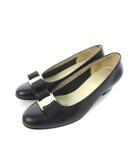 サルヴァトーレフェラガモ Salvatore Ferragamo パンプス ヴァラリボン レザー 靴 シューズ ブラック 4