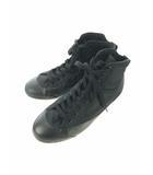 ユニクロ UNIQLO ハイカット スニーカー 靴 黒 ブラック 26.5
