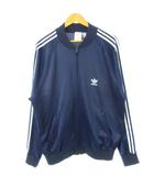 アディダス adidas 80's ジャージ USA製 ATP トレフォイル 刺繍ロゴ トラックジャケット ヴィンテージ 紺 ネイビー XL