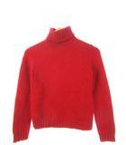 バーバリーズブルーレーベル Burberry's BLUE LABEL ニット 長袖 セーター タートルネック トップス 赤 レッド M