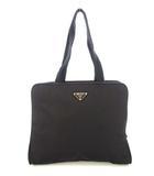 プラダ PRADA トートバッグ ビジネスバッグ 鞄 ナイロン 3層式 三角プレート 黒 ブラック