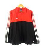 アディダス adidas ピステシャツ TANGOCAGE サッカー フットサル Tシャツ スポーツウェア オレンジ ブラック L