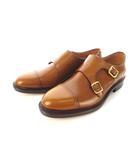 ジャランスリワヤ Jalan Sriwijaya ビジネスシューズ ダブル モンクストラップ カーフレザー 98625 靴 ウイスキー UK8.5