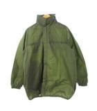 ヴィンテージ VINTAGE 80's フランス軍 レインジャケット ナイロン フード付き ミリタリー 雨具 オリーブ 104