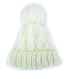 オリーブ デ オリーブ OLIVE des OLIVE ニット帽 ニットキャップ ポンポン 帽子 オフホワイト
