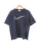ナイキ NIKE 90's Tシャツ スウッシュ プリント USA製 ネイビー L