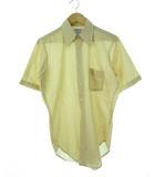 ヴィンテージ VINTAGE 60's アロー Arrow ストラップ シャツ USA製 半袖 ベージュ×ホワイト S