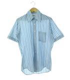 ヴィンテージ VINTAGE 70's LYTTON'S シャツ ストライプ 半袖 ブルー×ホワイト 14 1/2