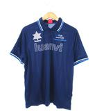 ルアンビ luanvi ポロシャツ 半袖 カットソー トップス サッカー フットサル ネイビー L