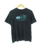 パタゴニア Patagonia USA製 Tシャツ LIVE SIMPLY CARGO BIKE プリント オーガニックコットン 39067 黒 ブラック S