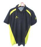 ケルメ KELME ポロシャツ 半袖 カットソー トップス スポーツウェア ブラック ゴールド XL