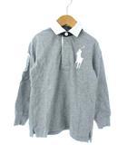 ポロ バイ ラルフローレン Polo by Ralph Lauren キッズ ラガーシャツ 長袖 トップス ビッグポニー 子供服 グレー 110cm