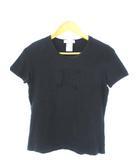 セリーヌ CELINE Tシャツ 半袖 カットソー トップス ストレッチ ブラック L