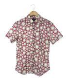 ポールスミスジーンズ Paul Smith JEANS シャツ 半袖 トップス 花柄  ピンク オフホワイト M