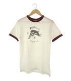 ウエアハウス WAREHOUSE Tシャツ PHILMONT リンガーTシャツ 半袖 ホワイト S