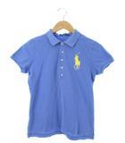 ラルフローレン RALPH LAUREN ポロシャツ 半袖 トップス ビッグポニー 刺繍 ブルー L