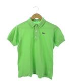 ラコステ LACOSTE CHEMISE LACOSTE ポロシャツ 半袖 トップス ロゴ 刺繍 ライトグリーン 40