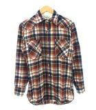 ペンドルトン PENDLETON 70's ウエスタンシャツ ウール チェック柄 ヴィンテージ ブラウン系 S