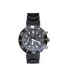 セイコー SEIKO プロスペックス ダイバースキューバ 腕時計 ソーラー クロノグラフ ブラック 黒 V175-0AD0