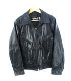 ショット SCHOTT 637 シングルライダース ジャケット Dポケット レザー 牛革 IDEALジップ USA製 黒 ブラック 36