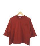 オリーブデオリーブ OLIVE des OLIVE カットソー 九分袖 トップス 胸ポケット ブラウン M