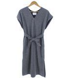 アダムエロペ Adam et Rope' ラメBOXドレス ワンピース フレンチスリーブ シルバー 38
