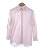 ランバン LANVIN ストライプ シャツ ワイシャツ 長袖 トップス ピンク 38-80