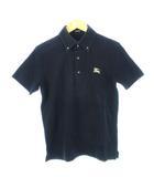 バーバリーブラックレーベル BURBERRY BLACK LABEL ポロシャツ ボタンダウン 刺繍ロゴ 黒 ブラック 2