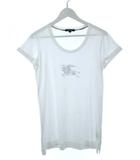 バーバリー ロンドン BURBERRY LONDON Tシャツ カットソー ロング丈 プリント 白 ホワイト 1