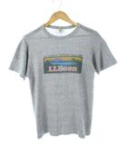 エルエルビーン L.L.BEAN 80's USA製 Tシャツ 88/12 プリント ヴィンテージ 霜降りグレー S