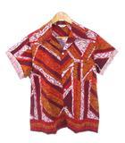 ヴィンテージ VINTAGE 70's MADE IN HAWAII ハワイ製 アロハシャツ コットン 総柄 オレンジ M