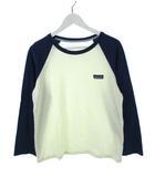 パタゴニア Patagonia コットン インコンバージョントップ ベースボールTシャツ ラグラン 51980 アイボリー ネイビー M