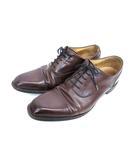 リーガル REGAL ビジネスシューズ レザー ストレートチップ 靴 ダークブラウン 25.5