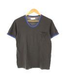 ピジャマクロージング pyjama clothing Tシャツ リンガーTシャツ 半袖 胸ポケット チャコールグレー S
