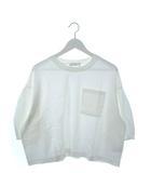 ディスコート Discoat カットソー 七分袖 トップス ボリュームスリーブ 胸ポケット ホワイト