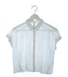 ディスコート Discoat シャツ フレンチスリーブ トップス ホワイト M