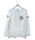 アルファ ALPHA ロンT 長袖 Tシャツ カットソー トップス プリント ホワイト XL