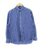 バナナリパブリック BANANA REPUBLIC ボタンダウン シャツ BDシャツ チェック柄 ネイビー系 S