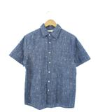 クロッシー CLOSSHI ダンガリー シャツ 半袖 トップス イカリ柄 ブルー M