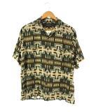 ペンドルトン PENDLETON レーヨンシャツ オープンカラー 総柄 半袖 チーフジョセフ柄 グリーン L